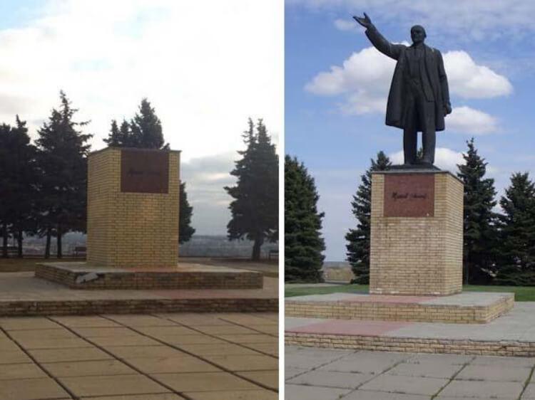 І знов все роблять патріоти - у Куп'янську знесли Леніна. Влада про декомунізацію забула.