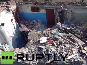 Війна і мир. Як зараз виглядає Донецьк, зруйнований бойовиками (відео з дрону)