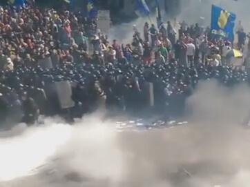 Момент вибуху під Верховною Радою - 1 людина померла, пранені більше 100